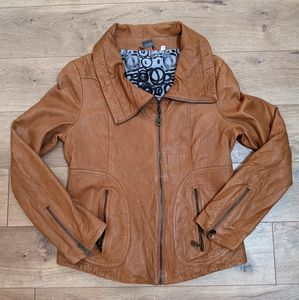 DOMA Moto Biker Butter Soft Leather JACKET Sz L